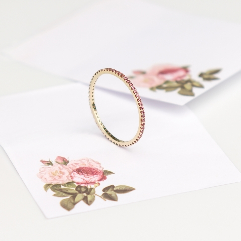 "Obrączka ""Rose ring"""